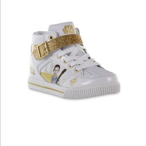 Star Wars Girl's High-Top Athletic Shoe Sz 1